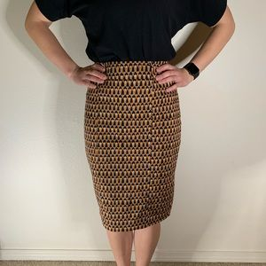 Mossimo Patterned Career Wear Pencil Skirt Sz 2